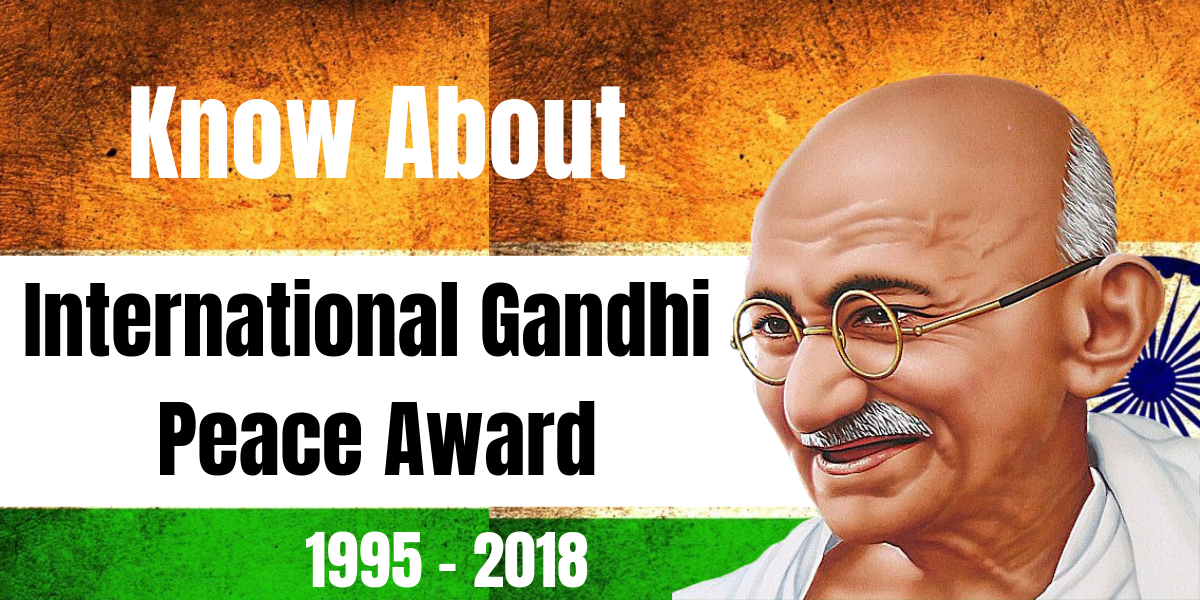 Photo of International Gandhi Peace Prize, 2018
