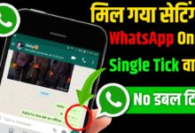 WhatsApp No Double Tick Settings WhatsApp Single Tick Only Hide Double Tick on WhatsApp 2020
