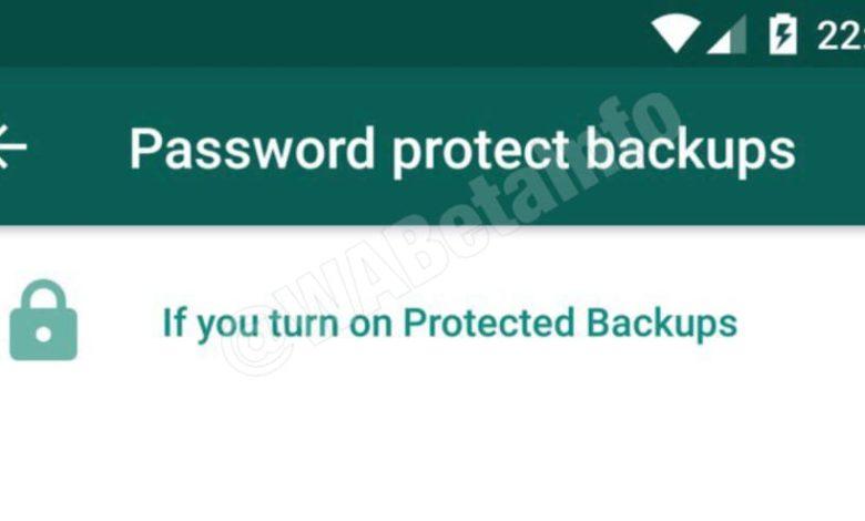WhatsApp New Update Password Protect Backups