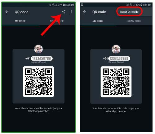 whatsapp qr code reset kaise kare