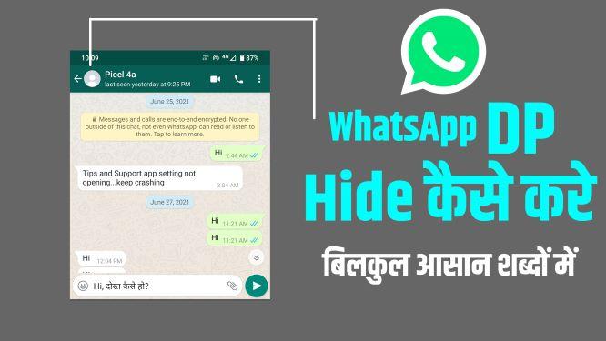 Hide WhatsApp DP
